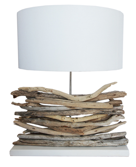 driftwood layered lamp